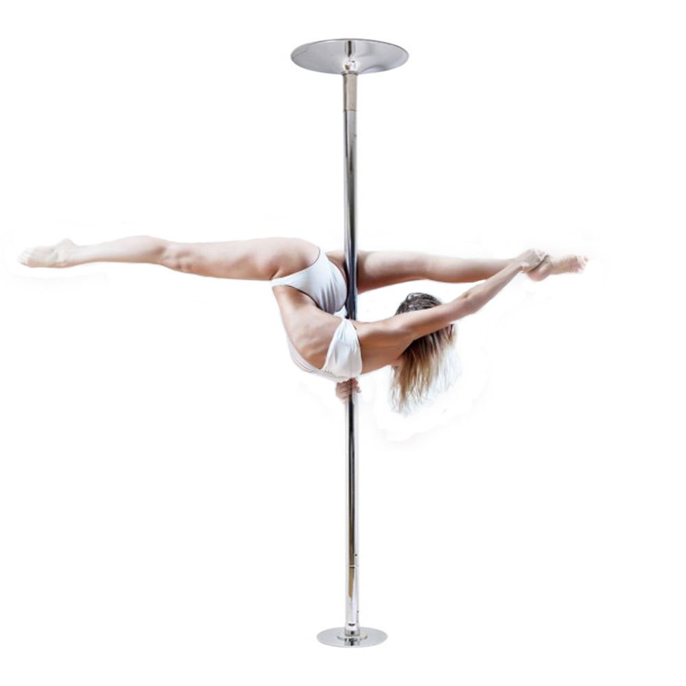WALLER PAA 45mm Portable Stainless Steel Dance Pole Spinning Static Dancing Fitness by nobrand