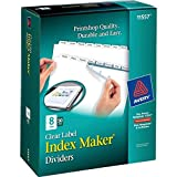 Avery Index Maker Clear Label Dividers, 8.5 x 11