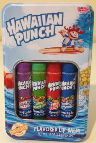 Hawaiian Punch Flavored Lip Balm 4 Pack Gift Tin