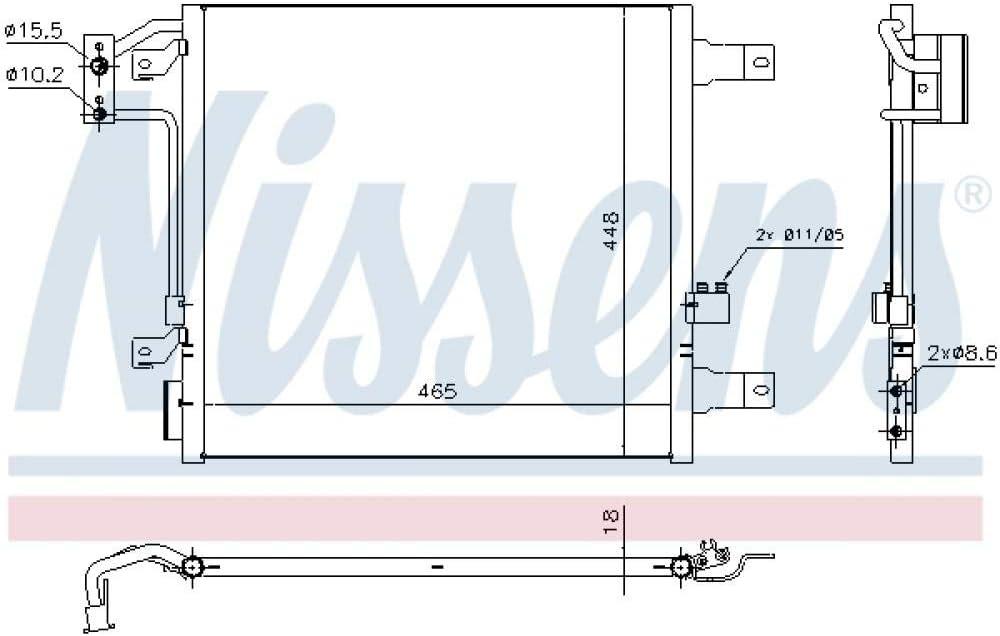 Nissens 940441 /Kondensator f/ür Klimaanlage