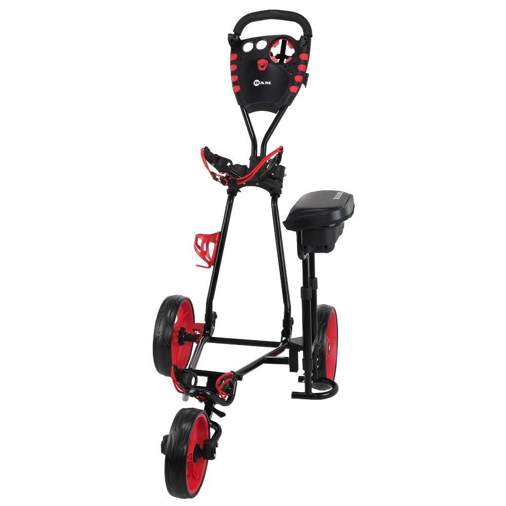 RAM Golf X-Pro Laser 3 Wheel Golf Pull Cart with Seat