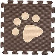 Interlocking Foam Mats EVA Foam Floor Mats (10 Tiles) Brown Footprints
