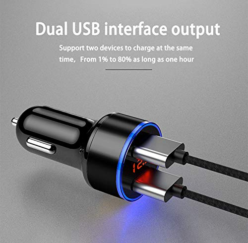 USB Car Charger for iPhone X Car Charger and Type C Car Charger with Car Phone Holder