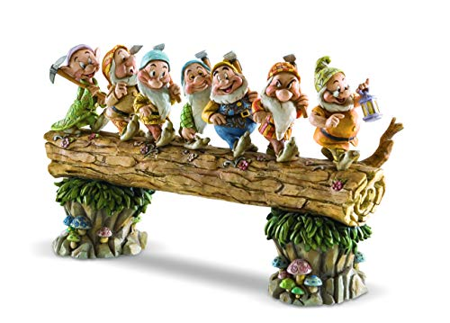 Seven Dwarfs Snow - Disney Traditions by Jim Shore Snow White and the Seven Dwarfs Heigh-ho Stone Resin Figurine, 8.25