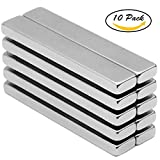Be Magent 10PCS Magnetic Grade N42 Rectangular Bar Neodymium Magnets, 33LBS Pulling force Rare Earth Magnets for Multi-Use 2.36'' X 0.4'' X 0.2''