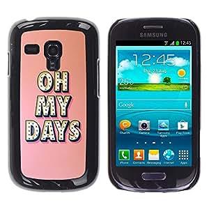 FlareStar Colour Printing Oh My Days Broadway Music Star Peach cáscara Funda Case Caso de plástico para Samsung Galaxy S3 III MINI (NOT FOR S3!!!) / i8190 / i8190N