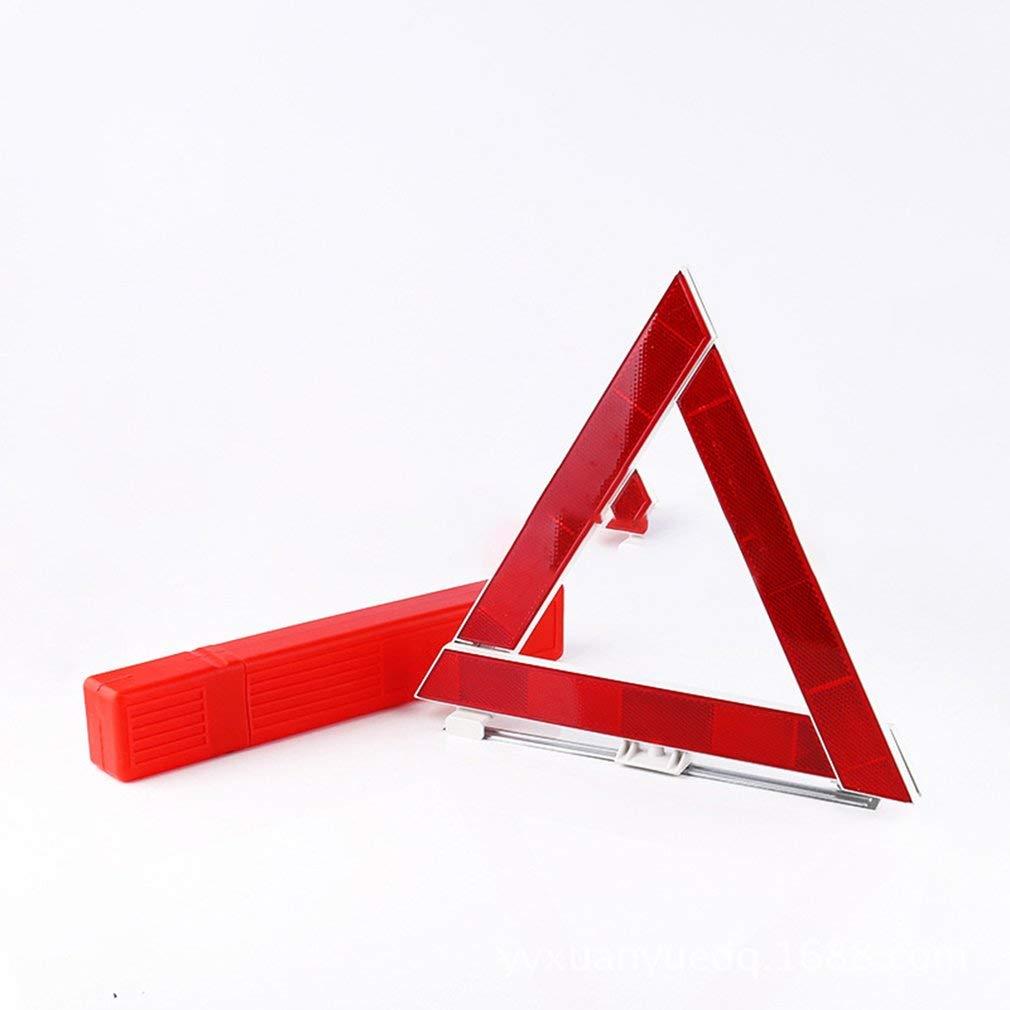 Yogamada Coche Veh/ículo Desglose de Emergencia Se/ñal de Advertencia Tri/ángulo Reflectante Seguridad Vial Rojo