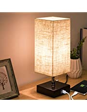 Focondot Table Lamp,Perfect Bedside Nightstand Lamps for Living Room, Bedroom, Office
