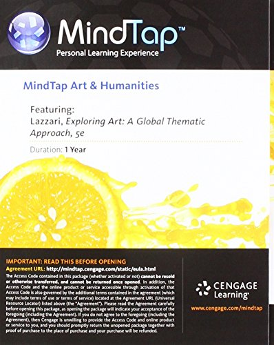MindTap Art, 1 term (6 months) Printed Access Card for Lazzari/Schlesier's Exploring Art: A Global, Thematic Approach, 5th -  Margaret Lazzari, 5th Edition, Printed Access Code