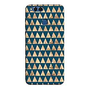 Cover It Up - Brown Navy Triangle Tile Honor 7x Hard Case