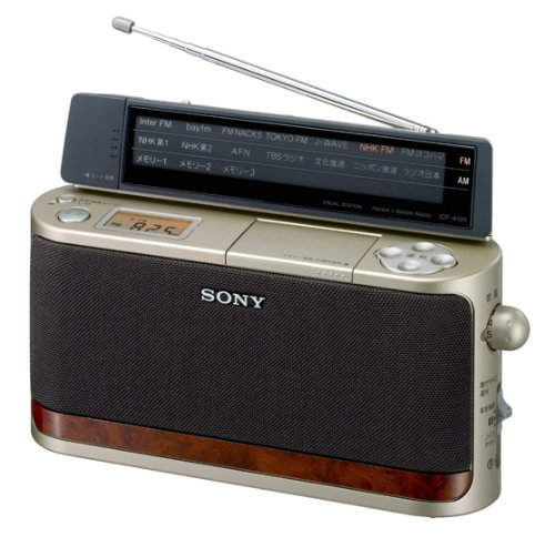 SONY FM/AM ホームラジオ A101 ゴールド ICF-A101/N   B00362NO4S