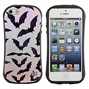 Suave TPU GEL Carcasa Funda Silicona Blando Estuche Caso de protección (para) Apple Iphone 5 / 5S / CECELL Phone case / / Halloween Black Pattern Nature /