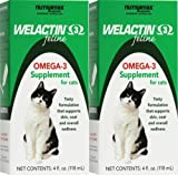 ValuePetSupplies Nutramax Welactin Feline Omega-3 Liquid Supplement 8oz (2 x 4oz)
