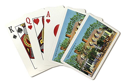 - Williamsburg, Virginia - Exterior View of the Raleigh Tavern (Playing Card Deck - 52 Card Poker Size with Jokers)