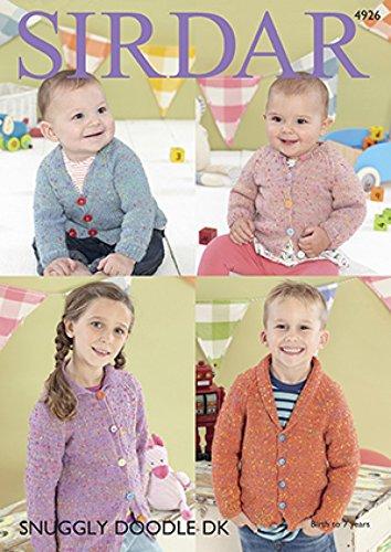 Sirdar Baby Cardigans Doodle Knitting Pattern 4926 DK