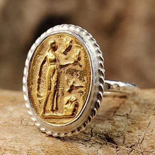 Greek Art  Pendant 24K Yellow Gold Cubic Zirconia Stone Handmade Handcrafted Artisan Granulated Jewelry 925 Sterling Silver Ancient Roman