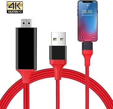AudeRhine Cable HDMI 4K, HDMI a DisplayPort, teléfonos a HDTV o ...
