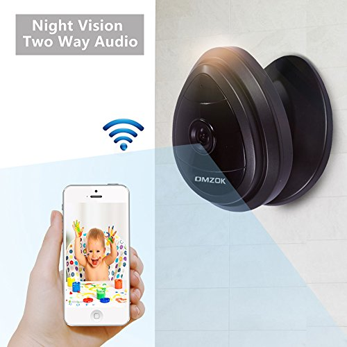 DMZOK Mini WiFi Camera, Wireless Security IP Camera, Nanny Cam, HD 720P Home Security Camera with Night Vision Two Way Audio Motion Detection, Baby Camera Pet Monitor