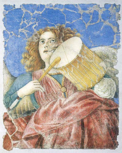Home Comforts Laminated Poster Melozzo da Forlì - Tambour and Flute -Playing Angel Vivid Imagery Poster Print 11 x 17 ()