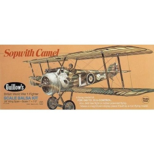 GUILLOW's Sopwith Camel 801 Powered Balsa Flying Model Kit by (Guillows Sopwith Camel)