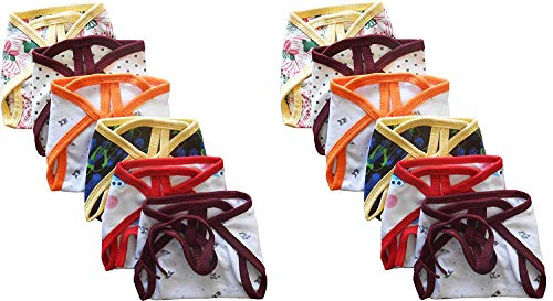 Tinchuk Nammababy Newborn Baby Hosiery Cotton Cloth Double Layer Nappies, 0-6Months (Multicolour) – Set of 12 Pieces