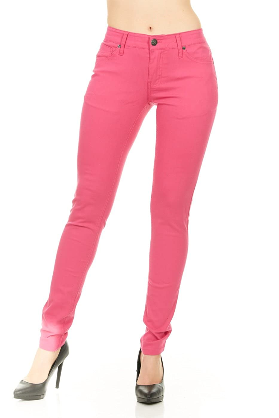 Amazon.com: No Fuze Mujer Skinny cómodo 5 Pocket Stretch ...