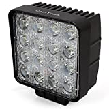 CoolYeah 4 inch 48 watt Square LED Spot Work Light for Offroad Vehicles Fog Driving 44 Truck Car UTV Led ATV Light Boat Tow Tractor Vessels Bus Fire Engines Forlifts Mining Trains Tanks bowfishing