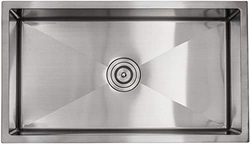 30 Stainless Steel Kitchen Sink Single Bowl 16 Gauge Sink ACCESSORIES INCLUDED