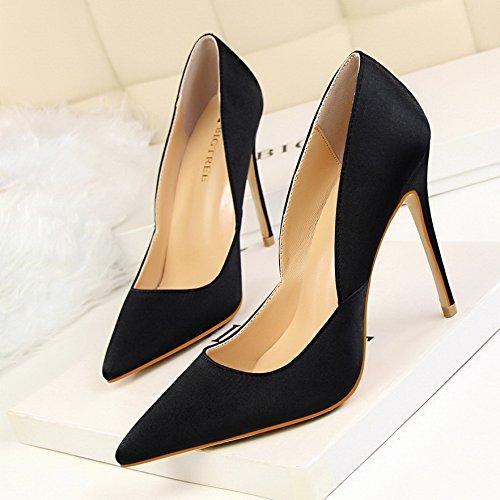 Yukun Schuhe Schuhe Schuhe mit hohen Absätzen Fresh Style Fashion Mit Super Hochhackigen Satin Flachen Mund Wies Hohlen Frauen Schuhe 5bb11a