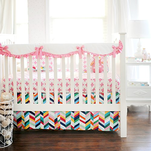 New-Arrivals-Crib-Rail-Cover-Uptown-in-Hot-Pink
