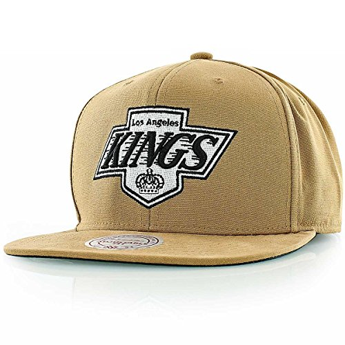 Mitchell & Ness Los Angeles Kings Snapback Cap Tan EU147 Kappe Basecaps Mens