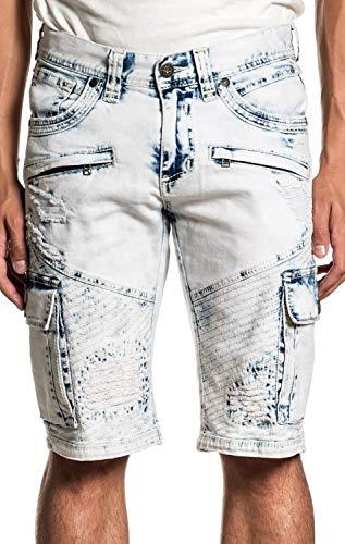 (Affliction Hunter Fallen Fulton Fashion Denim Jeans Cargo Shorts for Men)