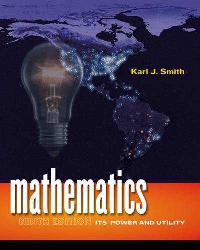 Mathematics: Its Power and Utility (Available 2010 Titles Enhanced Web Assign)