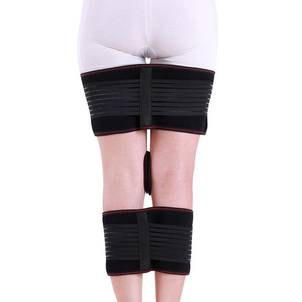 HETAO Djustable Knock Knees Bow Legs Corrector Band,Correction Belt Leg O X Leg Belt Fixer Black Average Code Recovery Beauty Straightening More Comfortable by HETAO