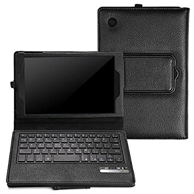 AVAWO Fire 7 2015 Keyboard Case - Bluetooth Keyboard Tablet Stand Leather Keyboard Case Cover for Amazon Fire 7 inch Display Tablet (5th Generation - 2015 Release Only), Black by AVAWO