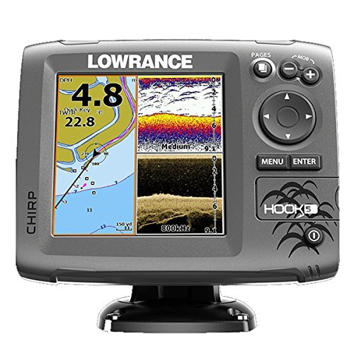 Lowrance HOOK-5 Fishfinder/Chartplotter Combo w/No Transducer by Lowrance -  8496213