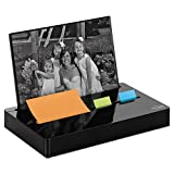 Post-it PH100BK Pop-up Note/Flag Dispenser Plus Photo Frame with 3 x 3 Pad, 50 1'' Flags, Black