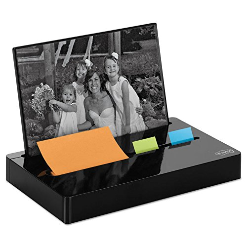 Post-it PH100BK Pop-up Note/Flag Dispenser Plus Photo Frame with 3 x 3 Pad, 50 1-Inch Flags, Black by Reg