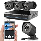 Zmodo Simplified PoE Security System -- 4 Channel NVR & 4 x 720p Outdoor Bullet Cameras with Customizable Motion Detection & Adjustable Night Vision No Hard Drive