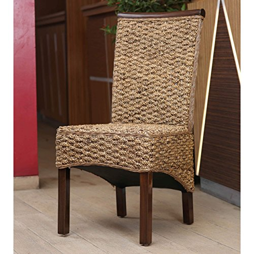 International Caravan SG-3310-2CH-IC Furniture Piece Bunga Hyacinth Dining Chair (Set of 2) (Room With Chairs Dining Set Rattan)