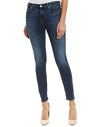 b0be61f902c 7 For All Mankind Women's B(Air) High-Waisted Ankle Skinny in Echo
