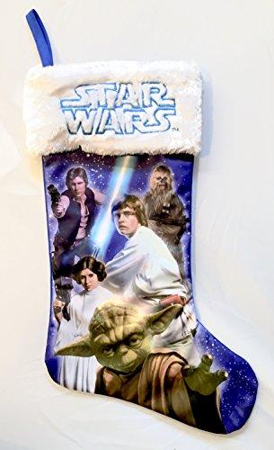 Original Star Wars Christmas Stocking - Luke Skywalker, Princess Leia, Yoda, Chewbacca, Hans Solo