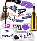 WINE ACCESSORIES SET FOR WOMEN. 26 Premium, Fun, Useful Bar Tools For Any Woman Who Loves Wine. Over $100 of Wine Accessories. Aerator, Chiller Rod, Lip Charms, Stoppers, Opener, Coasters, Markers For Sale