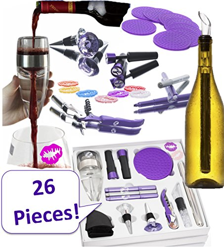 WINE ACCESSORIES SET FOR WOMEN. 26 Premium, Fun, Useful Bar Tools For Any Woman Who Loves Wine.  ...