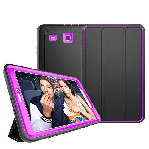 Samsung Galaxy Tab E 9.6 Case - Full Body Protection Heavy Duty Shockproof Armor Hard PC+Silicone Hybrid High Impact Resistant Defender Cover with Screen Protector (Pokemon Tablet Case 7 Inch)