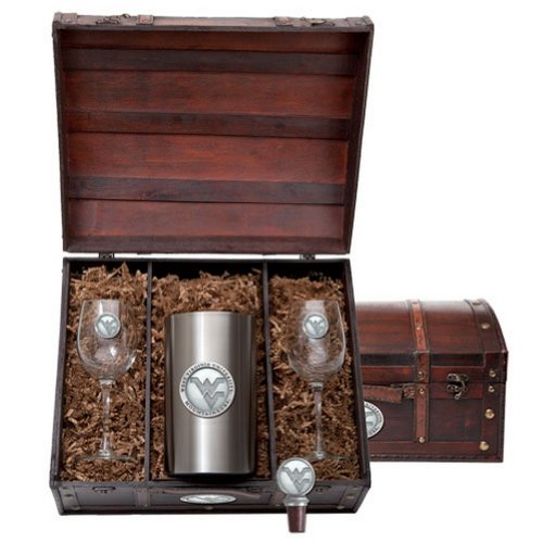 West Virginia Mountaineers Wine Gift Set by Heritage Metalwork (Image #1)