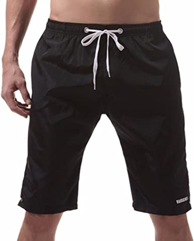 Mens Long Swimming Trunks Quick Dry Swimwear Boxer Swim Shorts Plus Size Fashion