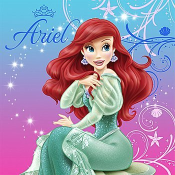 Little Mermaid Party Supplies - Little Mermaid Lunch Napkins - 16 ()