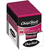 ChapStick Classic (12 Carded Packs of 1 Stick) Cherry Flavor Skin Protectant Flavored Lip Balm Tube, 0.15 Ounce Each (12 Total Sticks)