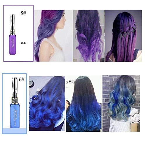 Lantusi 13 Color Temporary Hair Chalk, Unisex One Time Temporary Hair Dye Cream Highlights Streaks Touch Up Hair Color